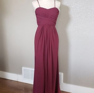 David's bridal wine colored dress